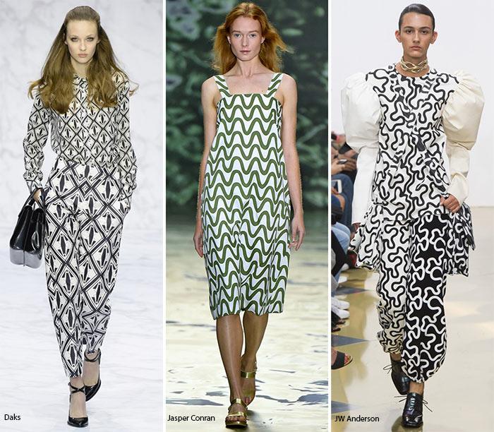 Абстракция на платьях