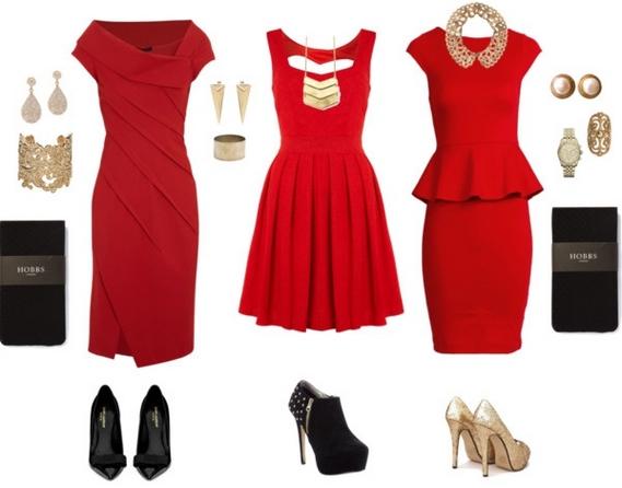 Аксессуары для красного платья