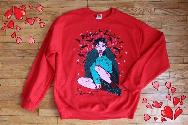 Аниме рисунок на свитере