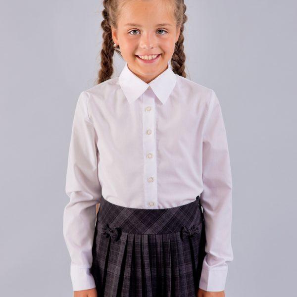 Белая блуза с длинным рукавом