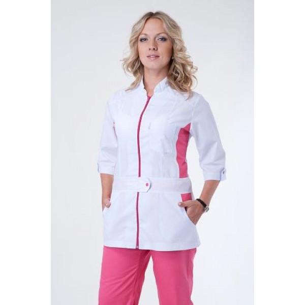 Бело-роовый костюм для медика
