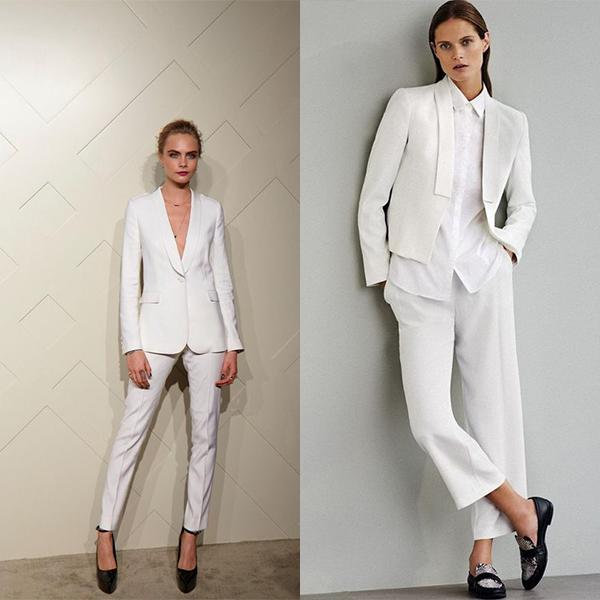 Белые деловые костюмы для офиса