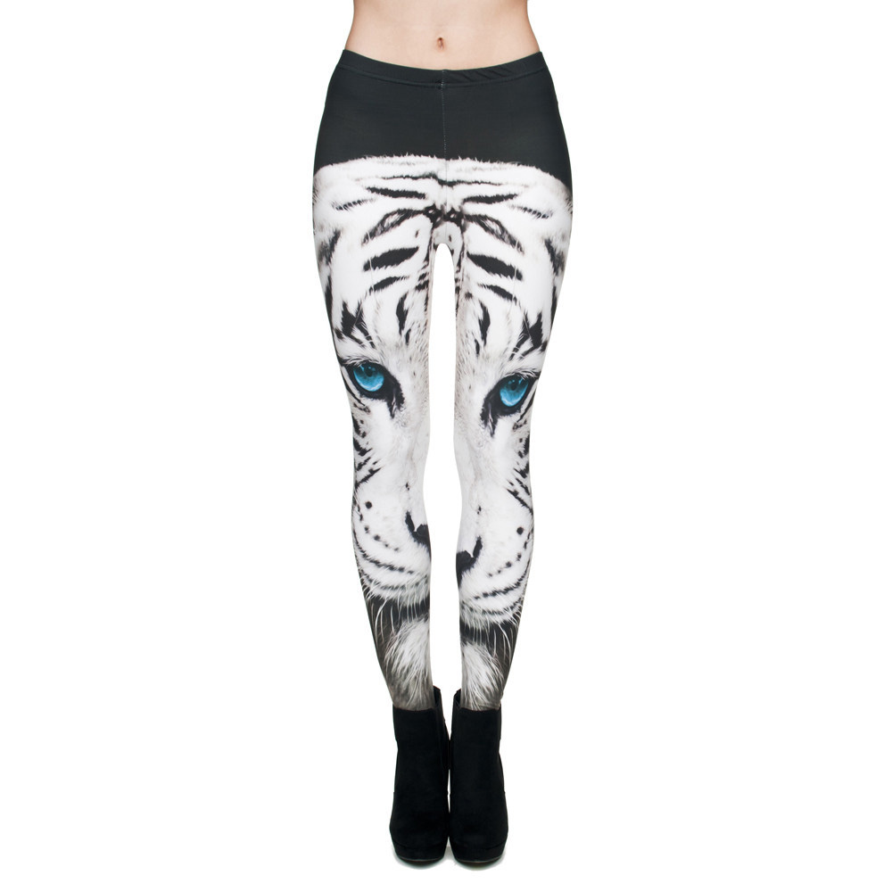 Белый тигр на леггиснах
