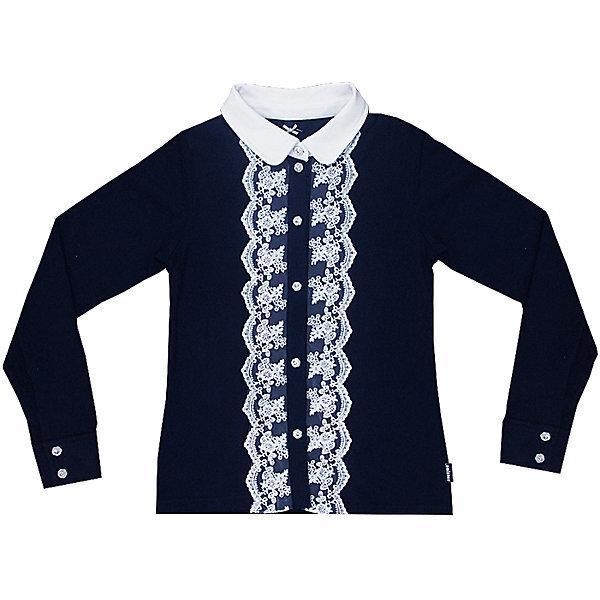 Блузка синего цвета для школы