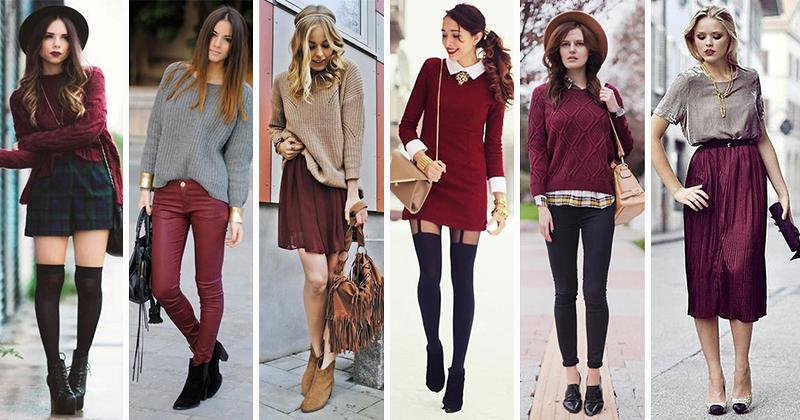 Бордовая одежда