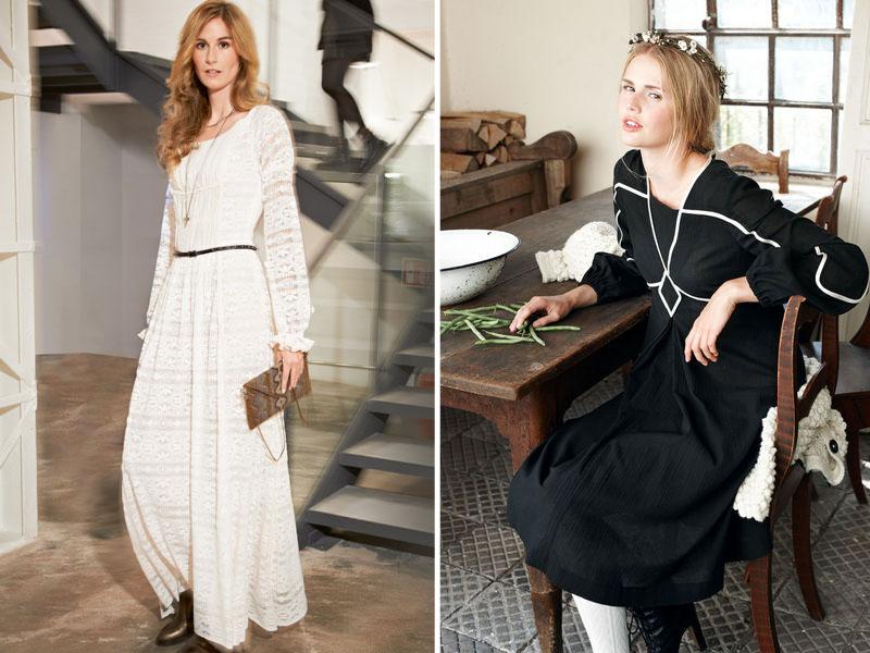 Черная и белая одежда для женщины