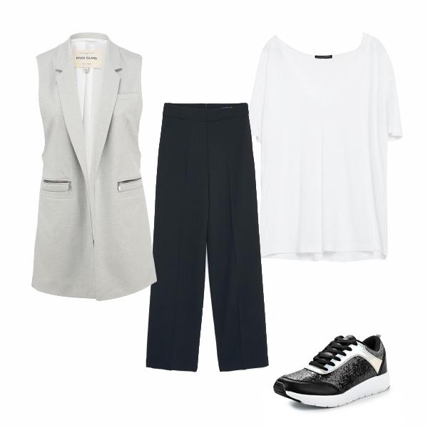 Черно-белая современная одежда