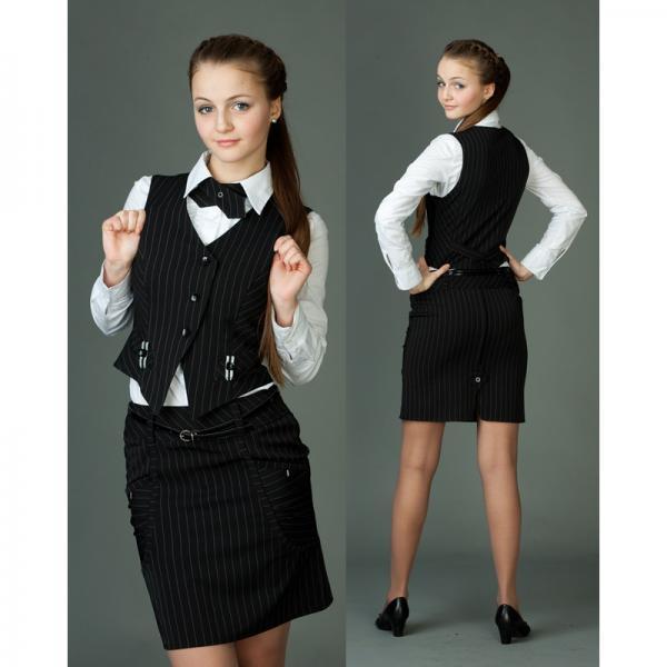 Черно-белый фасон одежды