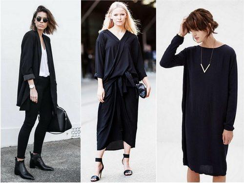 Черный цвет современной одежды