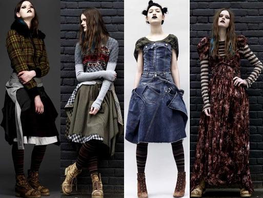 Что характерно для стиля гранж в одежде