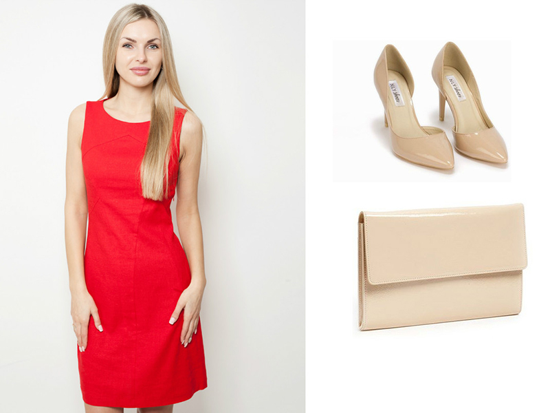 Что подойдет под красный цвет платья