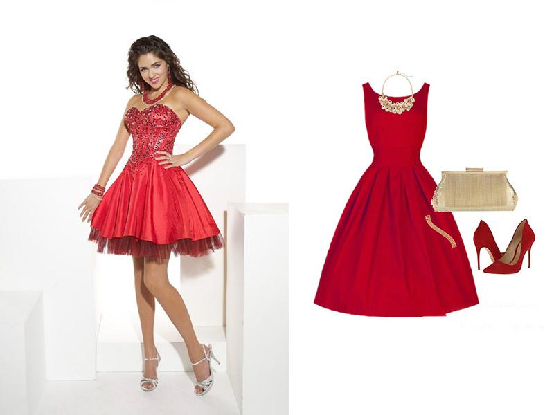 Декор для одежды красного цвета