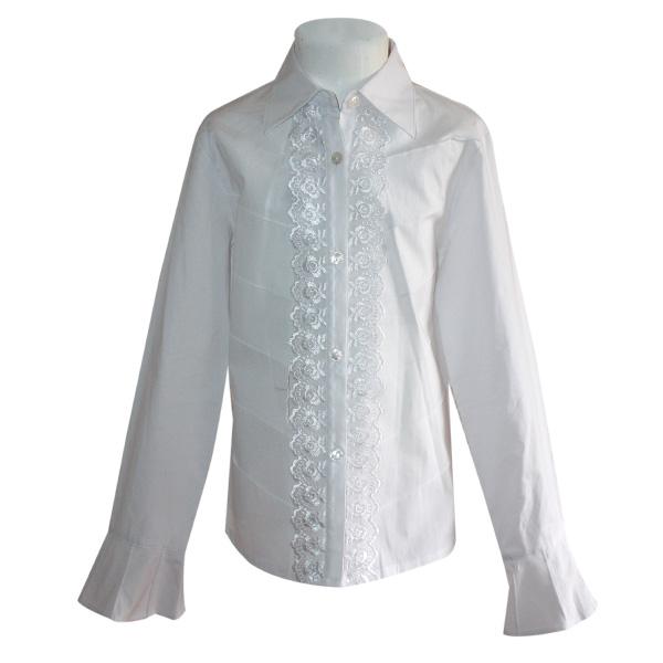 Длинная блуза белого цвета