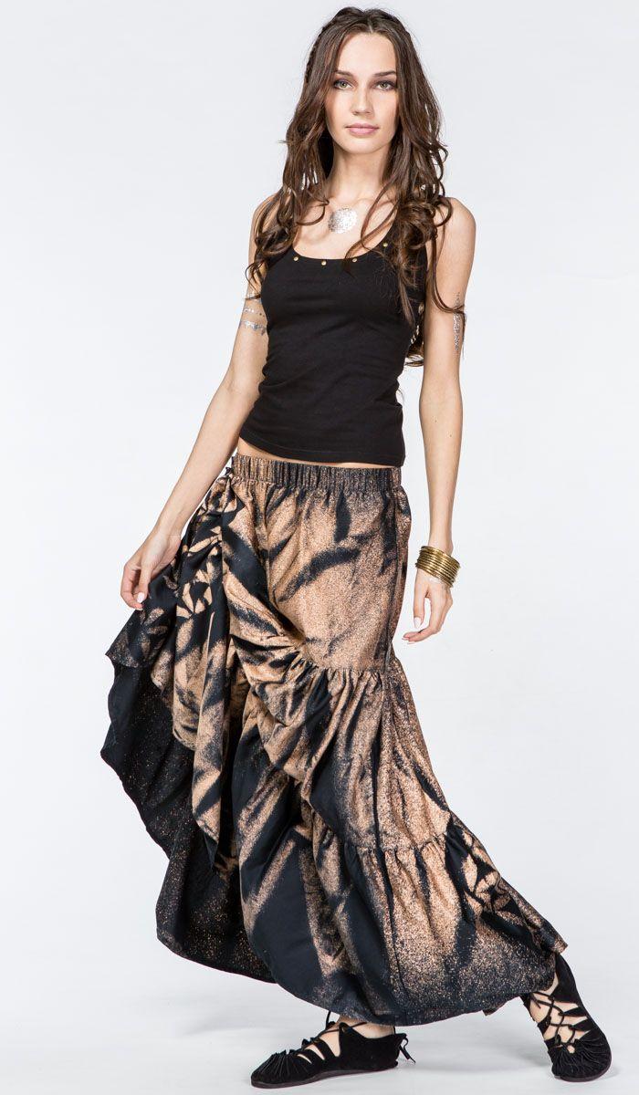 Длинная стильная юбка