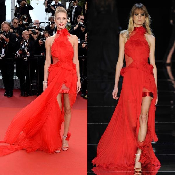Длинное красное платье итальянских брендов