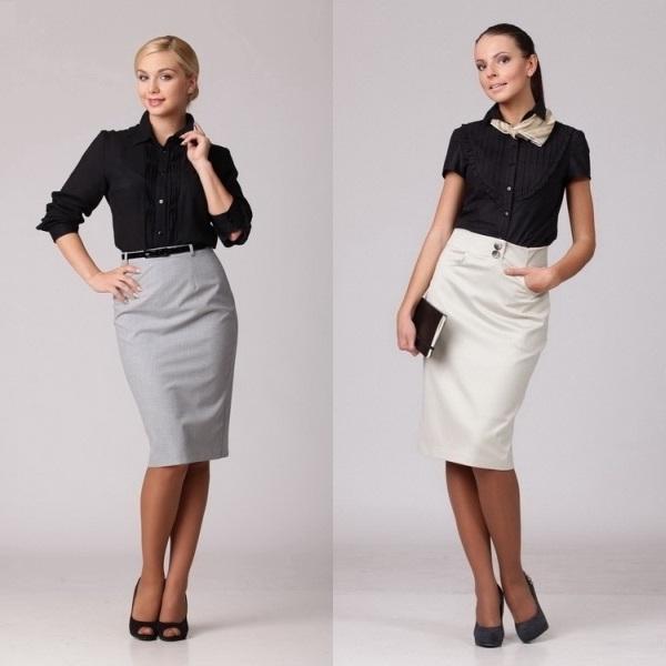 Длинные офисные юбки