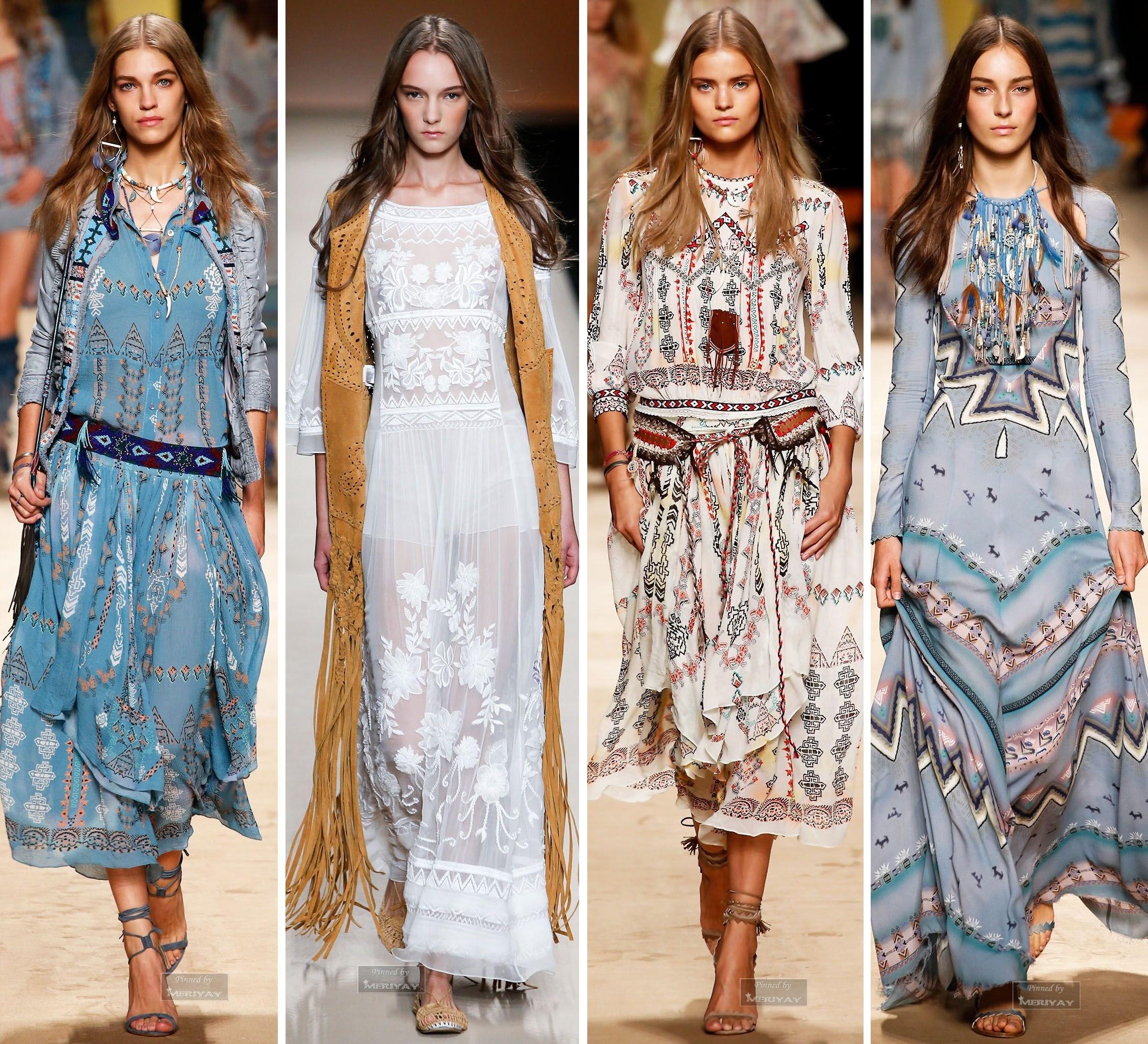 Длинные платья в пол в стиле Бохо Шик