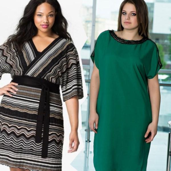 Длинные современные платья для полных