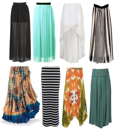 Длинные юбки для жаркой погоды