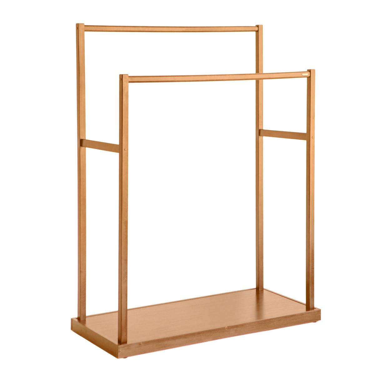 Двойная деревянная стойка для одежды