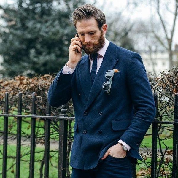 Фэшен костюм для делового образа мужчины