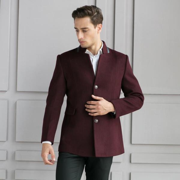 Фиолетовый современный пиджак