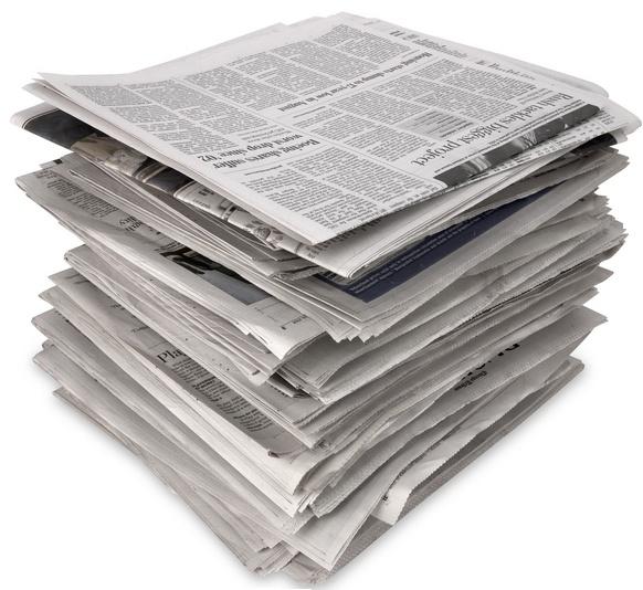 Газеты от пятен и запаха пота