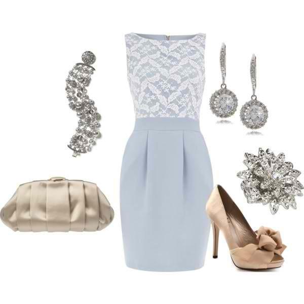 Голубое платье футляр
