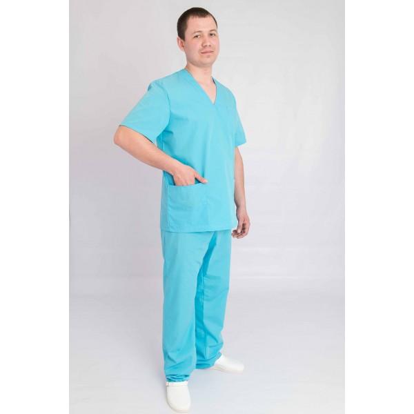 Голубой костюм для медика