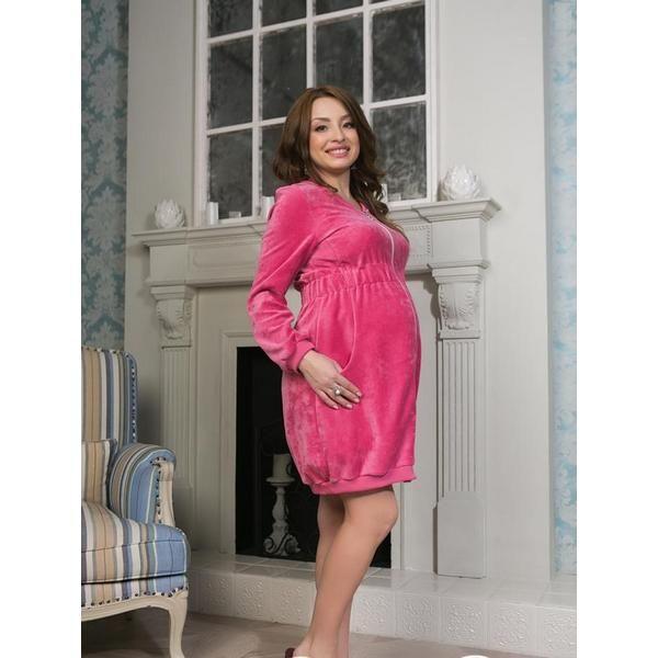 Халат велюровый для беременных