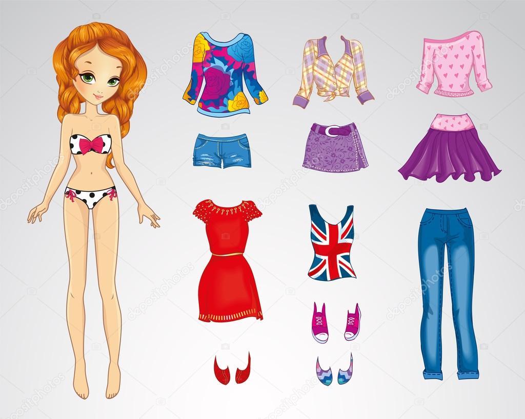 Как одеть куклу из бумаги