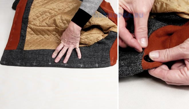 Как пришить кнопки к пальто