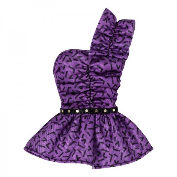 Короткое платье фиолетового цвета