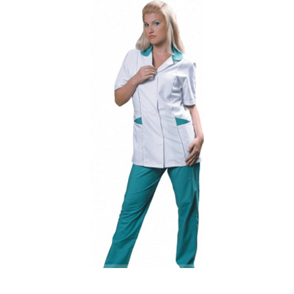 Костюм белый с зеленым для медика