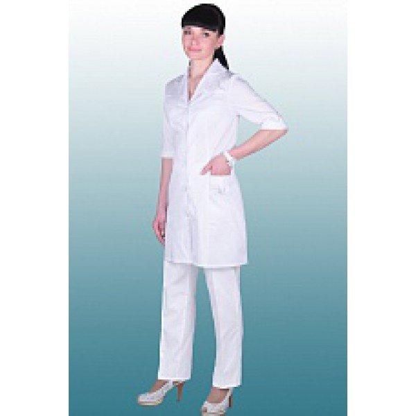 Костюм медицинский женский белого цвета