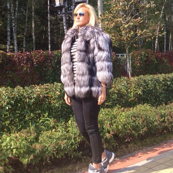 Куртка из финской чернобурки