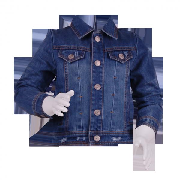 Лаконичная детская джинсовая куртка