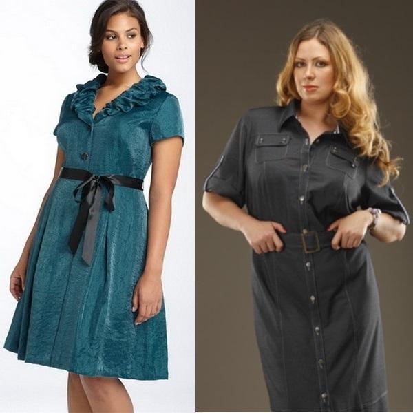 Летняя практичная одежда для полной женщины