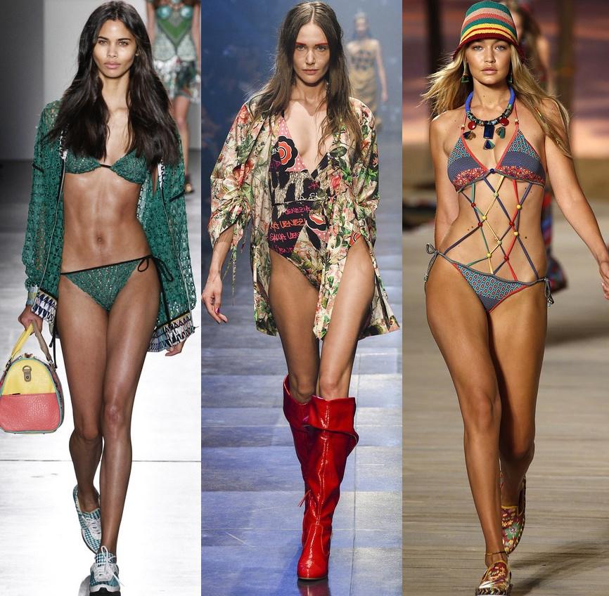 Модные цвета и принты пляжной моды