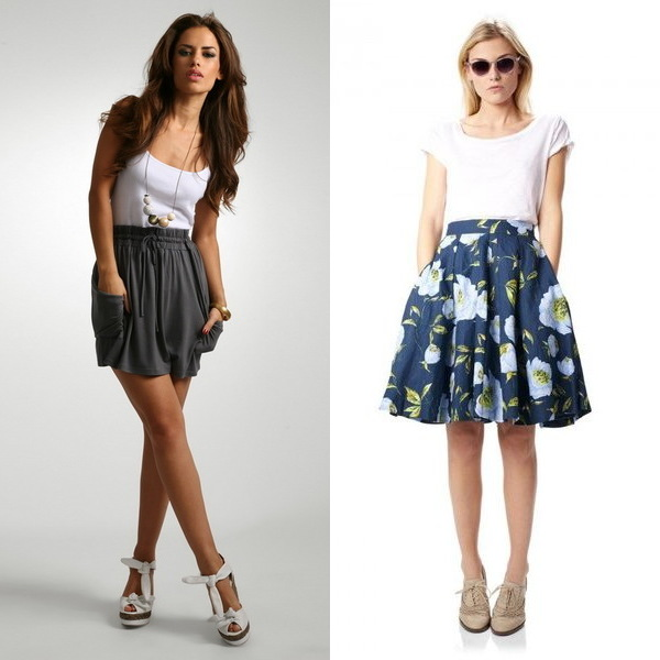 Модные цвета юбки