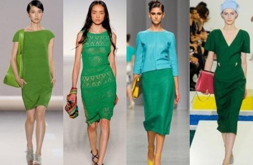 Модный изумрудный цвет в одежде