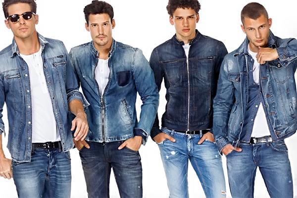 Мужская джинсовая одежда