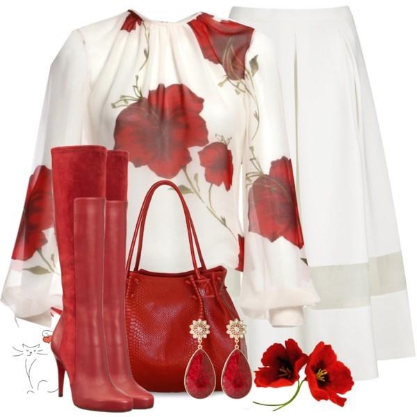 Народный образ и красная одежда