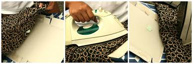 Обработка ткани утюгом