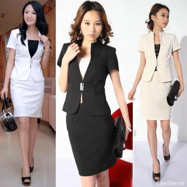 Образы с юбками для деловых женщин