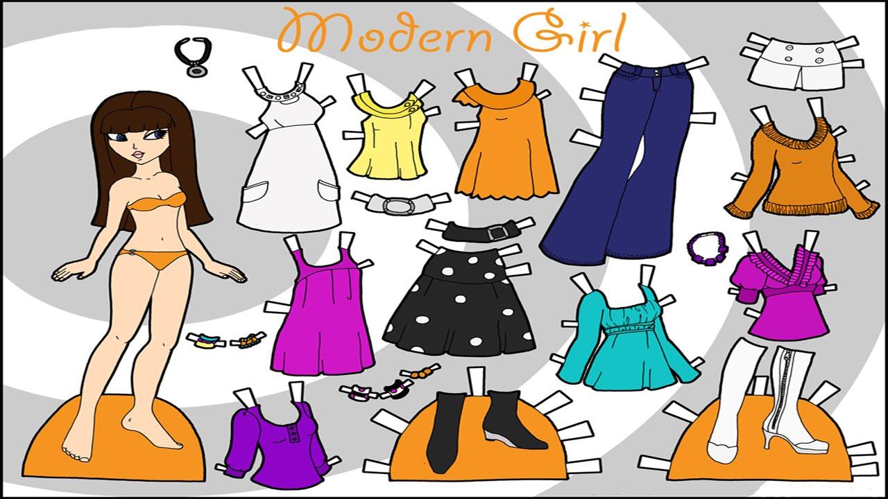 Одежда для кукол Куклы из бумаги