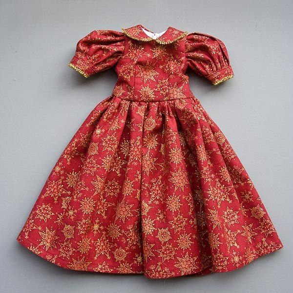 Одежда для кукол барби красного цвета