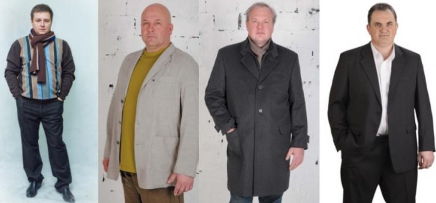 Одежда, позволяющая полным мужчинам выглядеть стройнее
