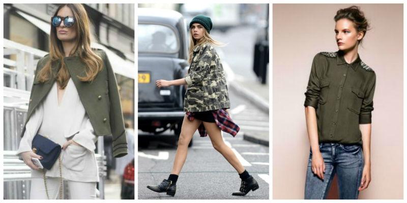 Одежда в стиле милитари – модный способ быть оригинальной