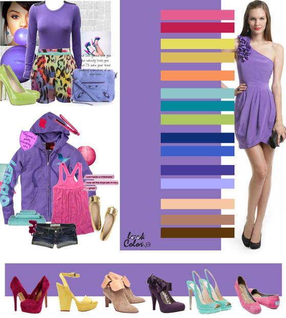 Оджеда фиолетового тона